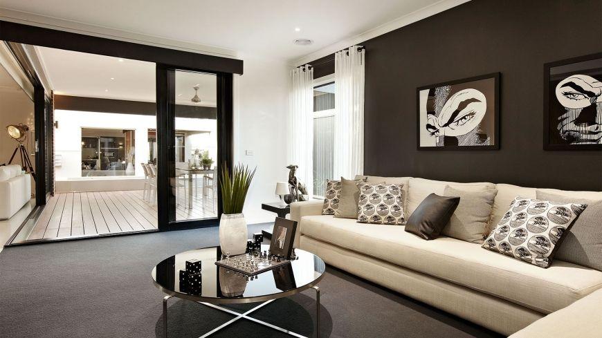 Dise o de casa de una planta con planos fachada con for Disenos de salas de casas