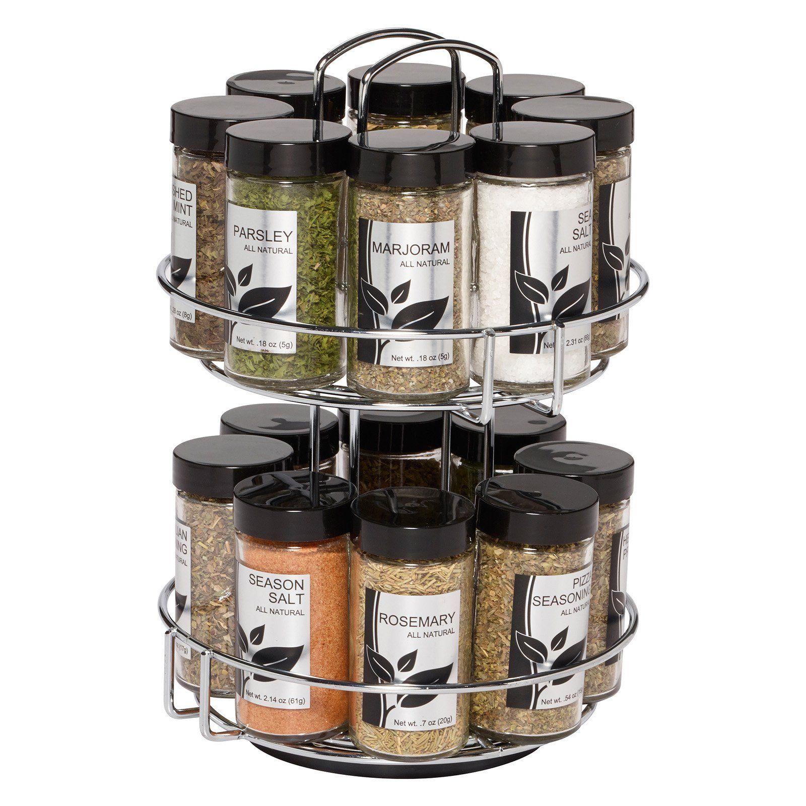 Kamenstein 16 Jar Spice Rack Spice Rack Walmart Countertop