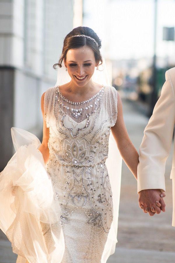 1920s Style Wedding Dress   Vintage Jenny Packham Wedding Gown ...