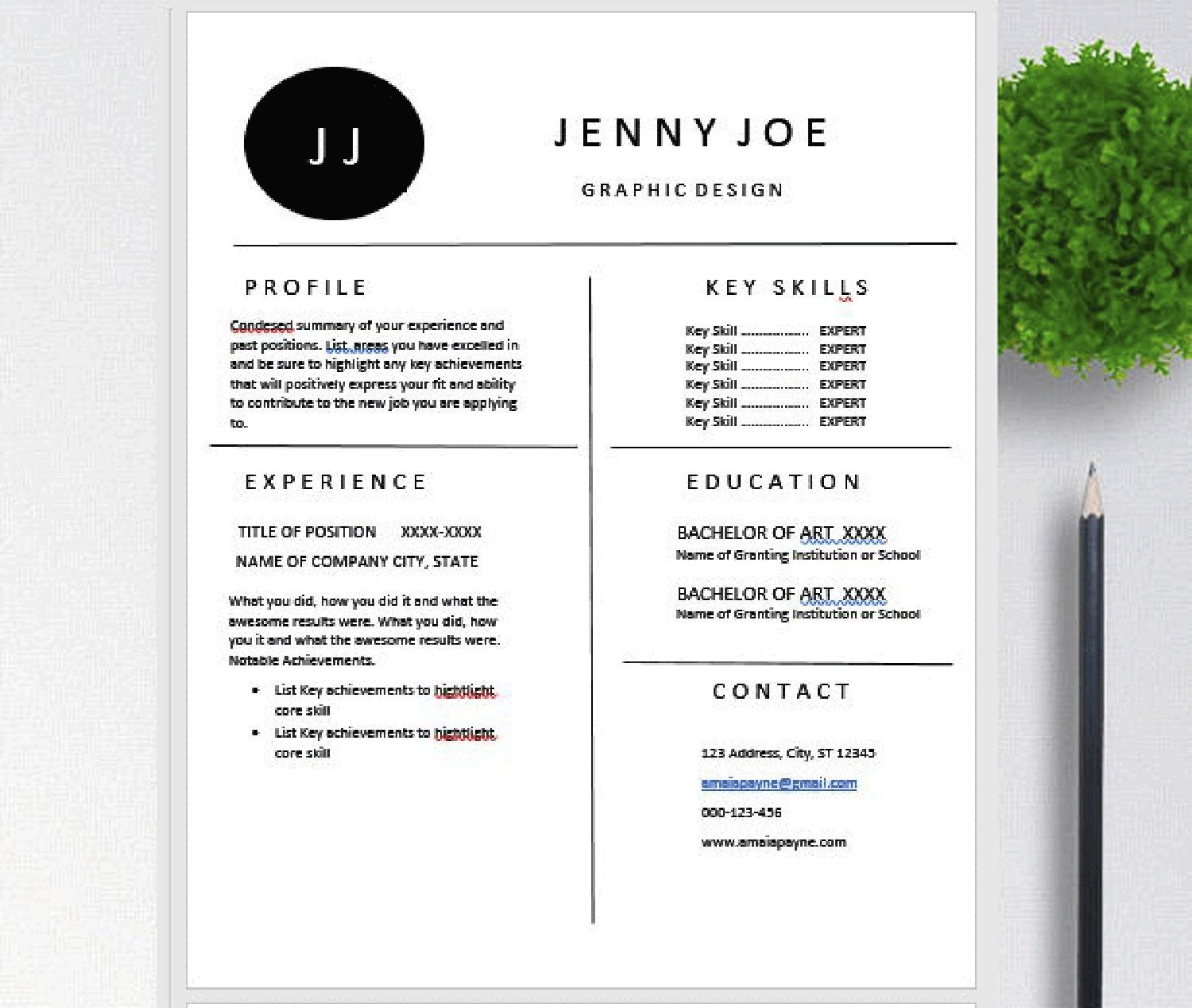 Openoffice Resume Pages Open Office Clean Modern Resume Template Cv Template With Cover Letter Word P Modern Resume Template Resume Template Cv Template