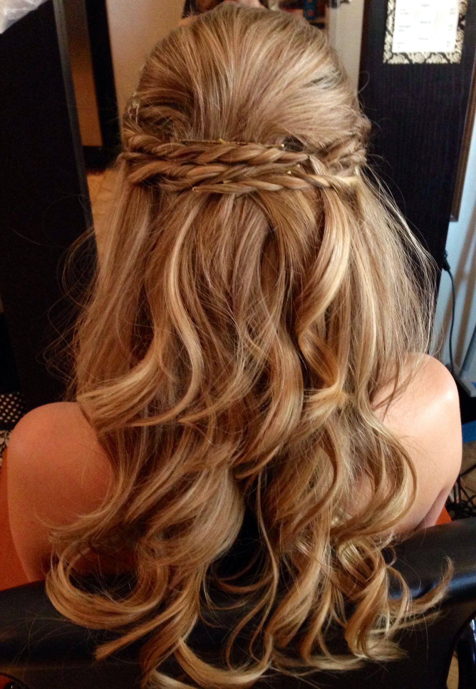 Half up half down wedding hair hair style pinterest weddings