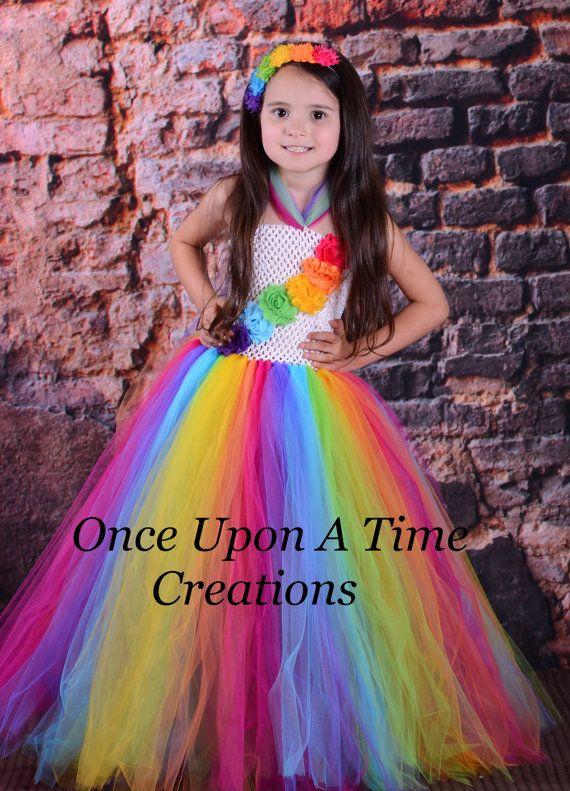 candy rainbow birthday tutu dress photo prop halloween costume girls size 12m 18m - 4t Halloween Costumes Girls
