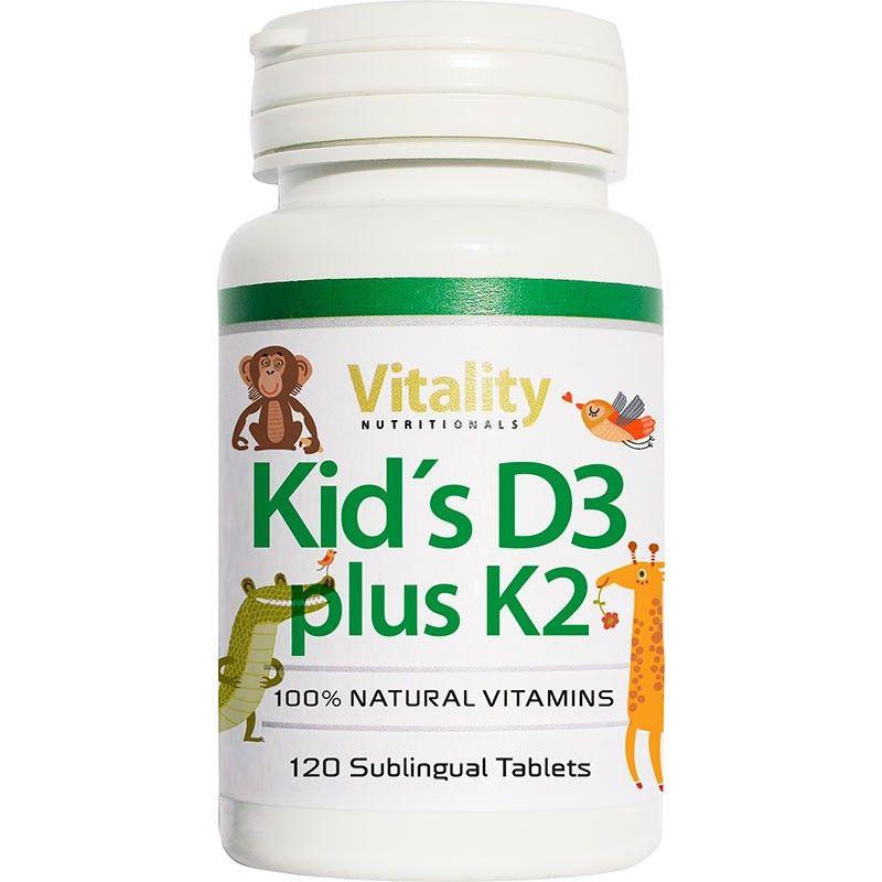 Kids Vitamin D3 plus K2, 120 Lutschtabletten von Vitality ...