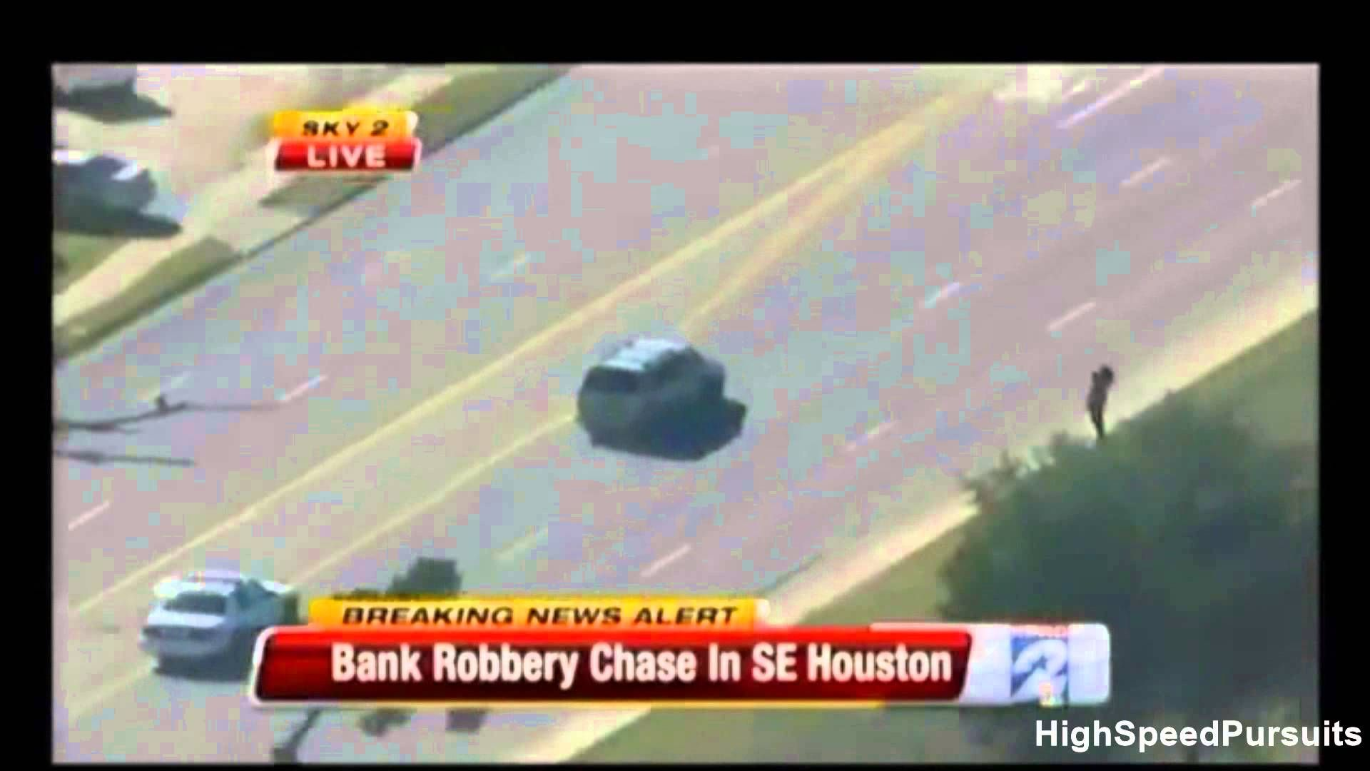 Texas High Speed Police Chase Armed Bank Robbers | All Police