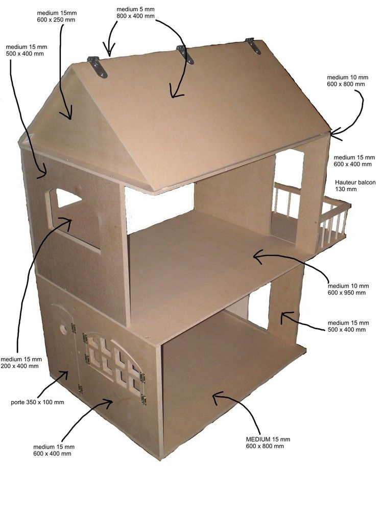Bricobilly plans for amazing doll houses plus furniture for Easy build home plans