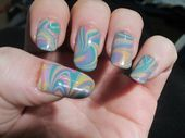 Photo of Watermarble Manicure  Nail Art Gallery by NAILS Magazine