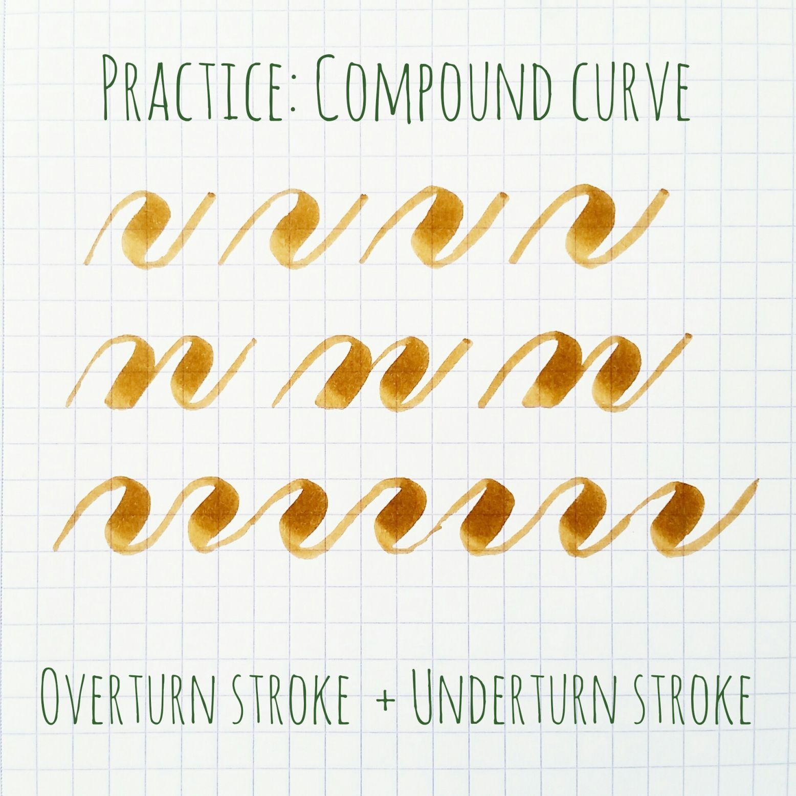 Basic Brush Calligraphy Strokes The Compound Curve