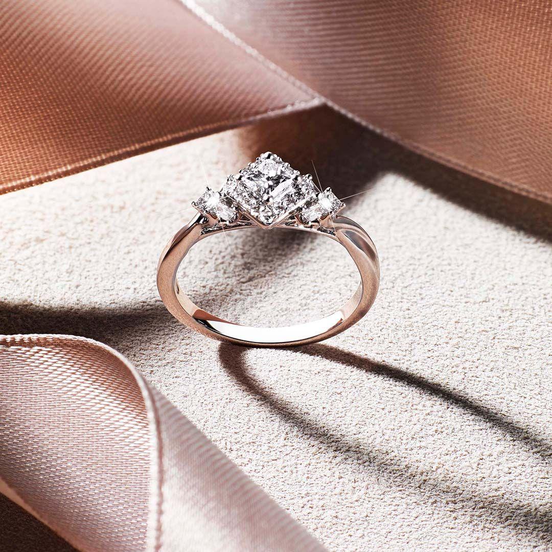 Emmy London 18ct White Gold Baguette 0 50ct Diamond Ring Rings