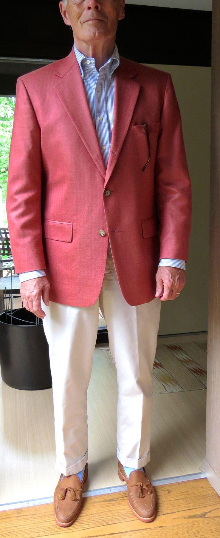 08215d1d0b8 O'Connell's Silk Herringbone Sport Jacket, University Stripe OCBD, LE  Twills, Allen Edmonds tassel loafers