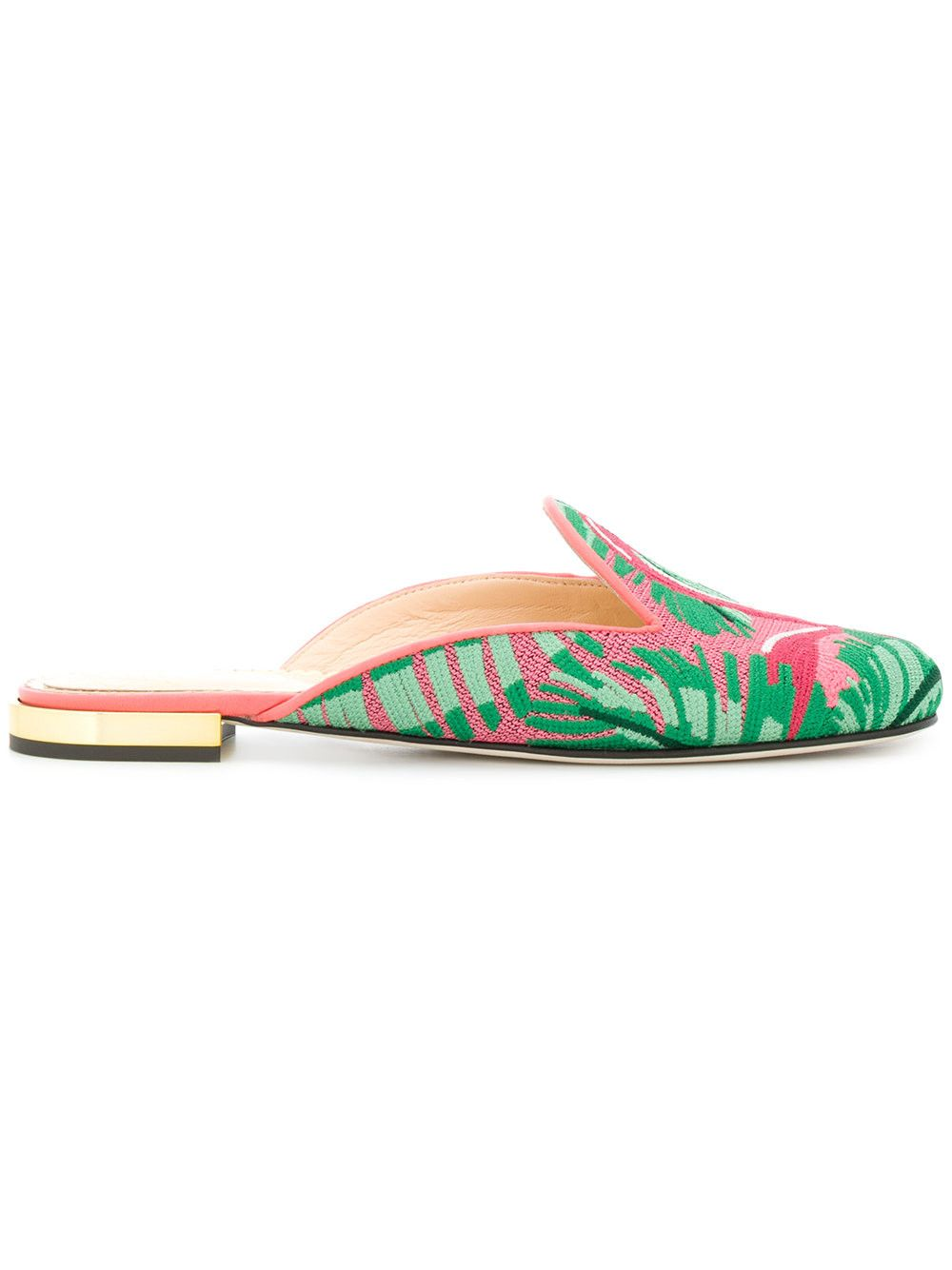 CHARLOTTE OLYMPIA Flamingo print flat mules.  charlotteolympia  shoes   eaca6c7c7