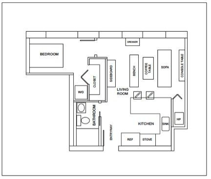 Colorful Square Foot Apartment Chicago Studio Layout Floor Plans