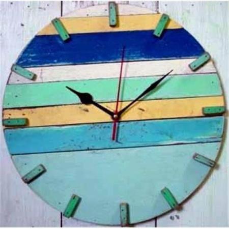 Chaba Decor Sn 347 Sky- Fn 032 Sky Beach House Clock 12. 5