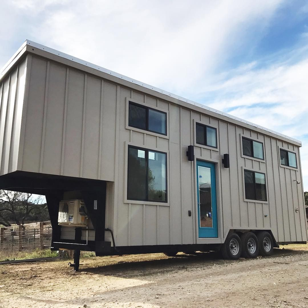 Nomad Tiny Homes On Instagram A Tiny Family Getaway In A Tiny Yes Please 28 Ft Plus 7 Ft Gooseneck Trailer Tiny House Gooseneck Trailer Dream House