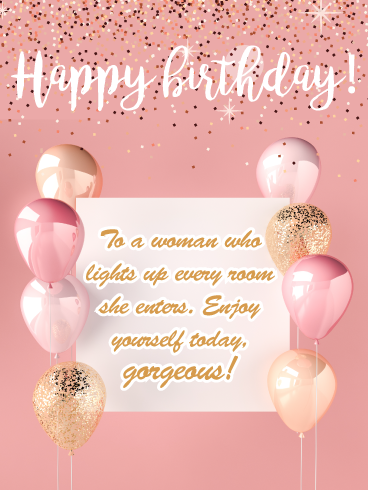 Gorgeous Glitter Happy Birthday Card For Her Birthday Greeting Cards By Davia Happy Birthday Sparkle Happy Birthday Cards Birthday Cards For Her