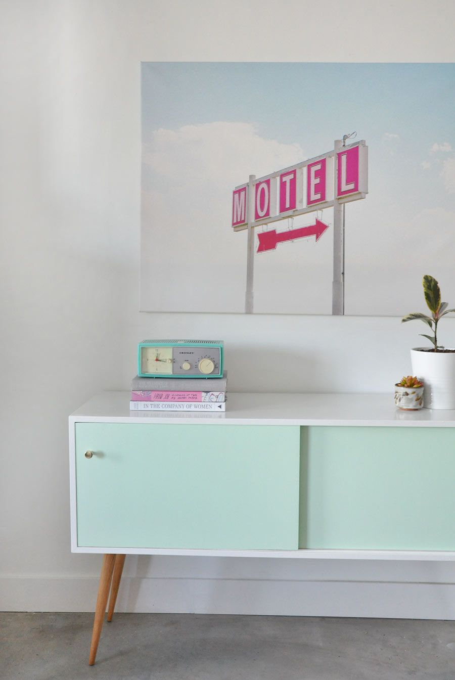 Before + After | Credenza Makeover | Poppytalk by @visualheart