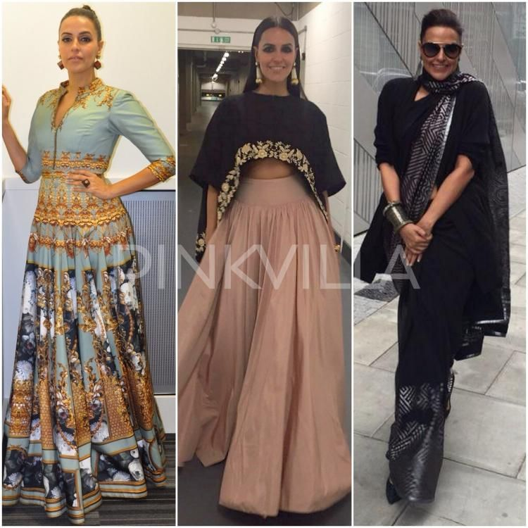 Style File Neha Dhupia At India London Fashion Week Fashion Indian Designer Outfits Stylish Dresses