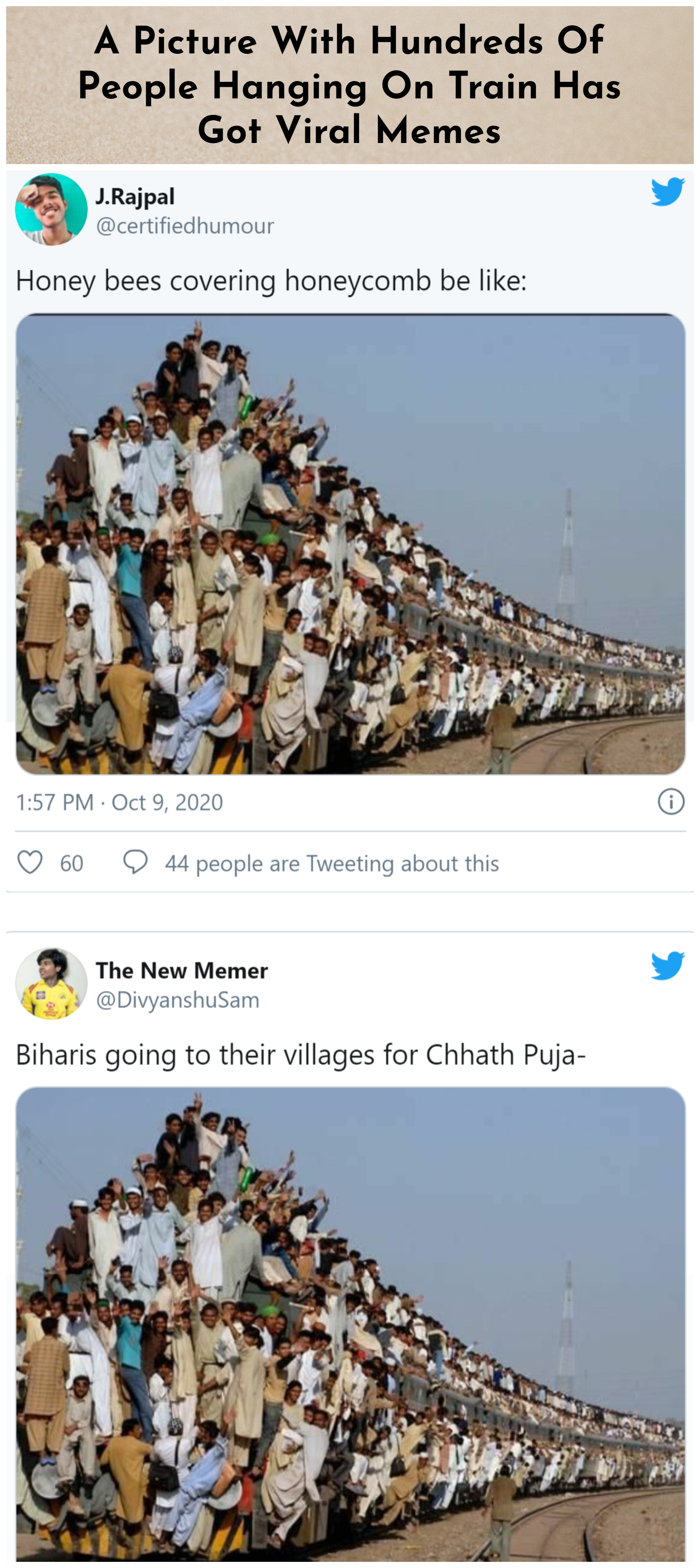 A Picture With Hundreds Of People Hanging On Train Has Got Viral Memes Memes Pictures Viral
