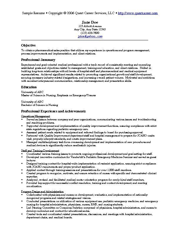 Medical Sales Sample Resume. 8 Best Resume Images On Pinterest