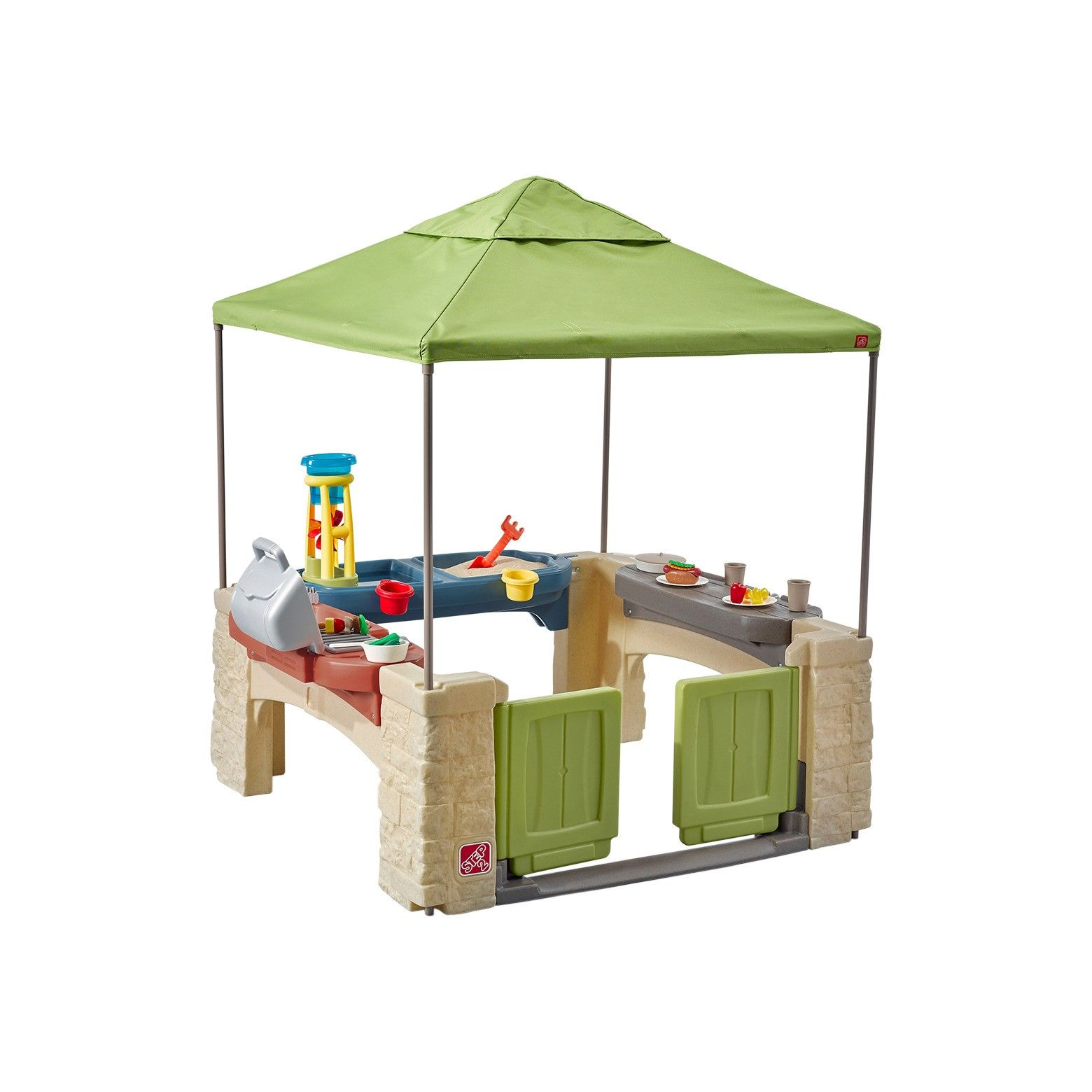 Step2 All Around Playtime Patio with Canopy | Pretend play kitchen ...
