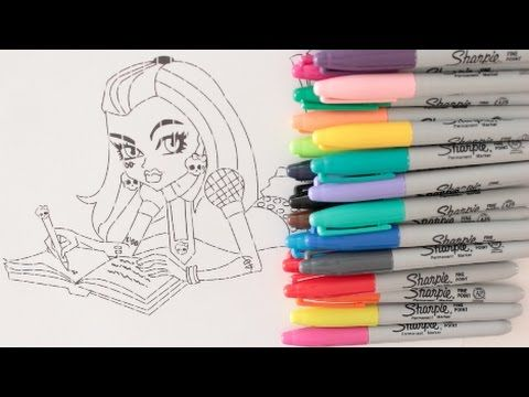 COLORING WITH CRAYOLA MARKERS FRANKIE STEIN FROM MONSTER HIGH ...