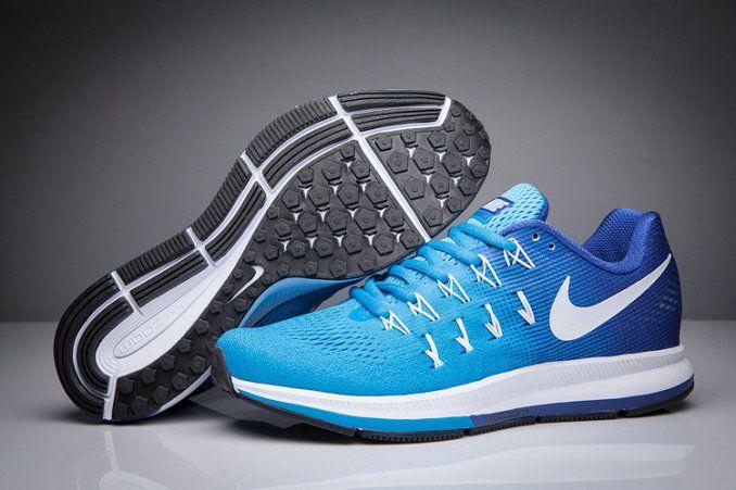 8fc94e25077 Big Boys Shoe Youth Nike Air Zoom Pegasus 33 Gradient Blue Lagoon Royal White  831356 314