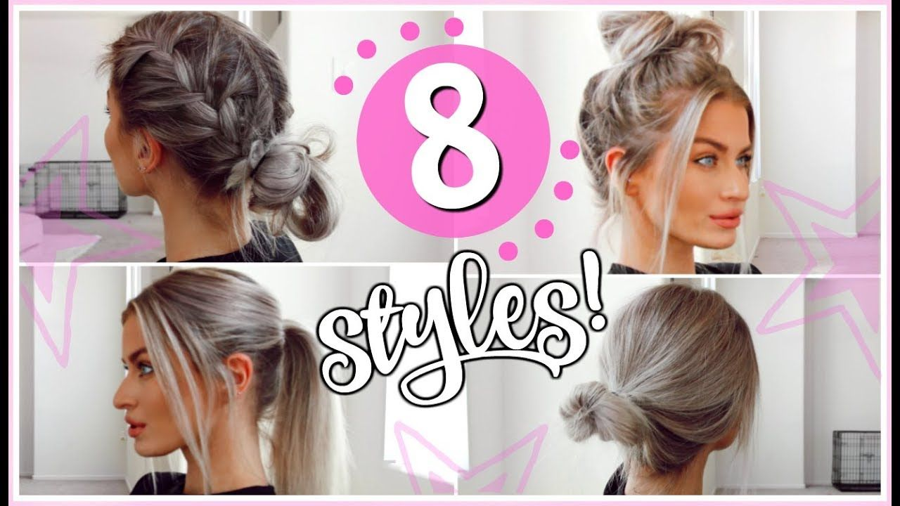8 Heatless 5 Minute Hairstyles Easy Simple Lyssryann Youtube 5 Minute Hairstyles Easy Hairstyles For Long Hair Long Hair Video