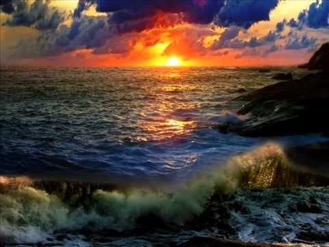 Beautiful ocean wave, beach and sunset.....makes a beautiful scene!
