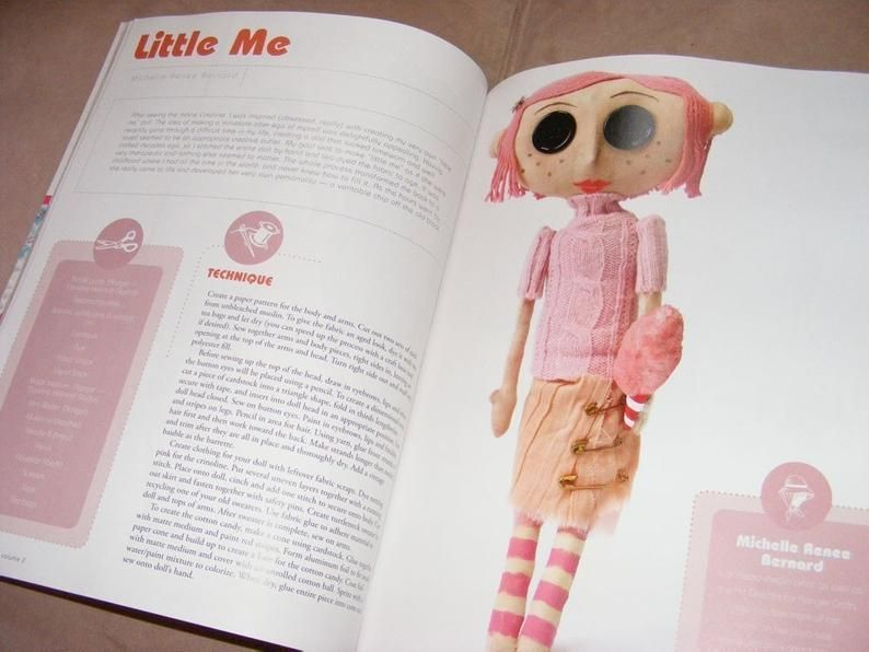 Coraline Doll Pattern Make Your Own Little Me As Seen In Stuffed Magazine In 2020 Coraline Doll Handmade Dolls Patterns Doll Pattern