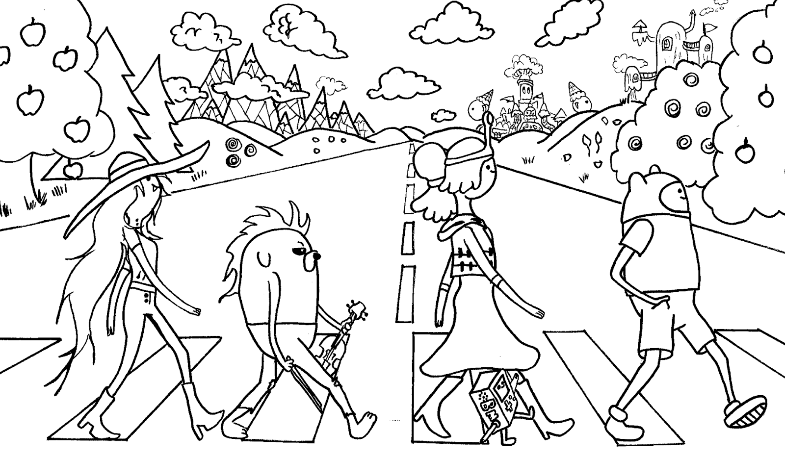 Adventure time coloring pages the beatles | Coloring Pages ...