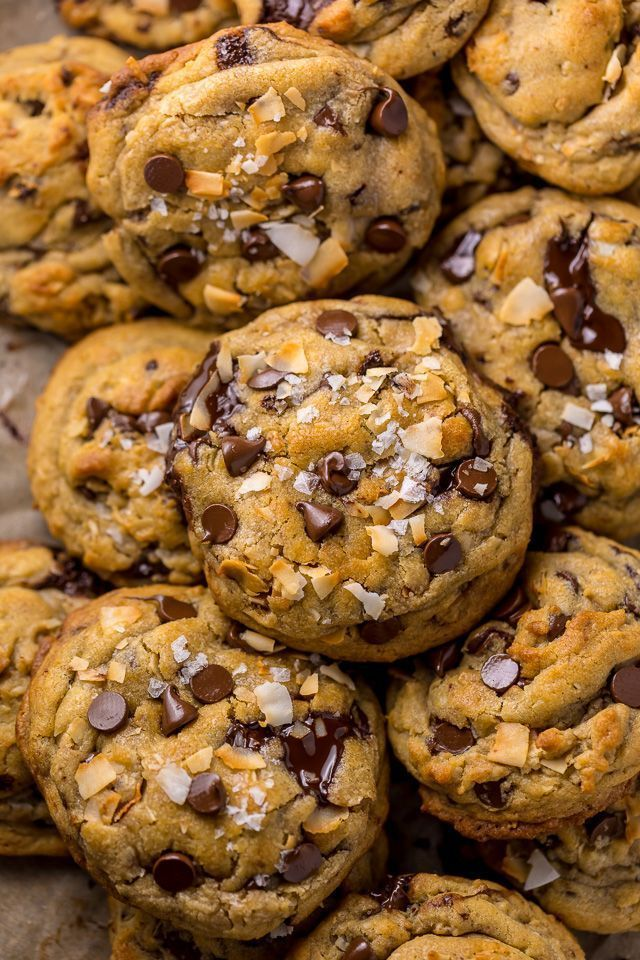 Brown Butter Coconut Chocolate Chip Cookies - Bake