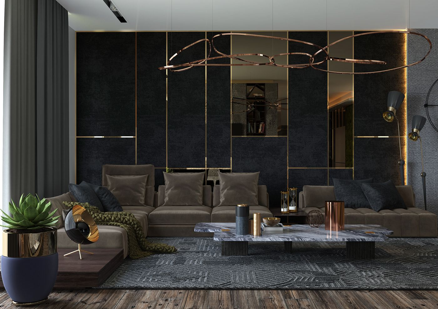 Sabina Ismayilova On Behance Luxury Living Room Design Lounge