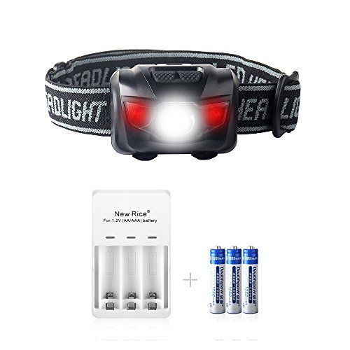 Newrice 200 Lumens Ultrabright Led Headlamp Flashlight Waterproof Ipx6 Lightweight 5 Brightness Light Modes Adjust Led Headlamp Bright Led Waterproof Headlamp