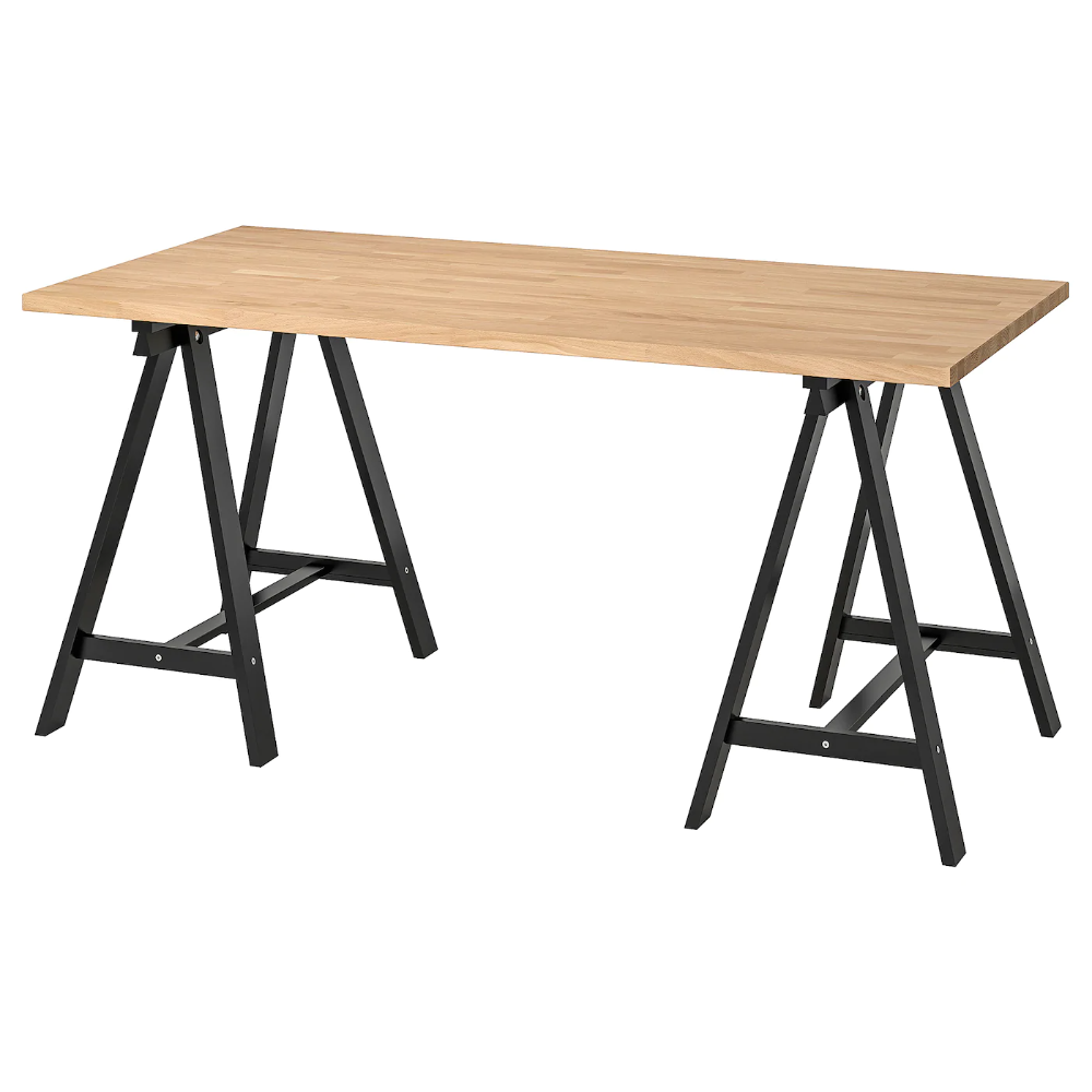 Gerton Oddvald Table Beech Black 61x29 1 2 Ikea In 2020 Ikea Wood Treatment Table