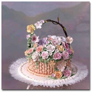 Flower Basket Cake Cake Decorating Beautiful Cakes Themed Cakes