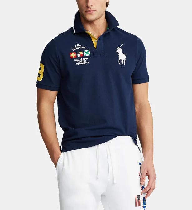 Polo Droit Mesh En Coton Polo Ralph Lauren En Bleu Pour Vêtements Homme Galeries Lafayette Galeries L Polo Ralph Lauren Ralph Lauren Polo Shirts Polo Shirt