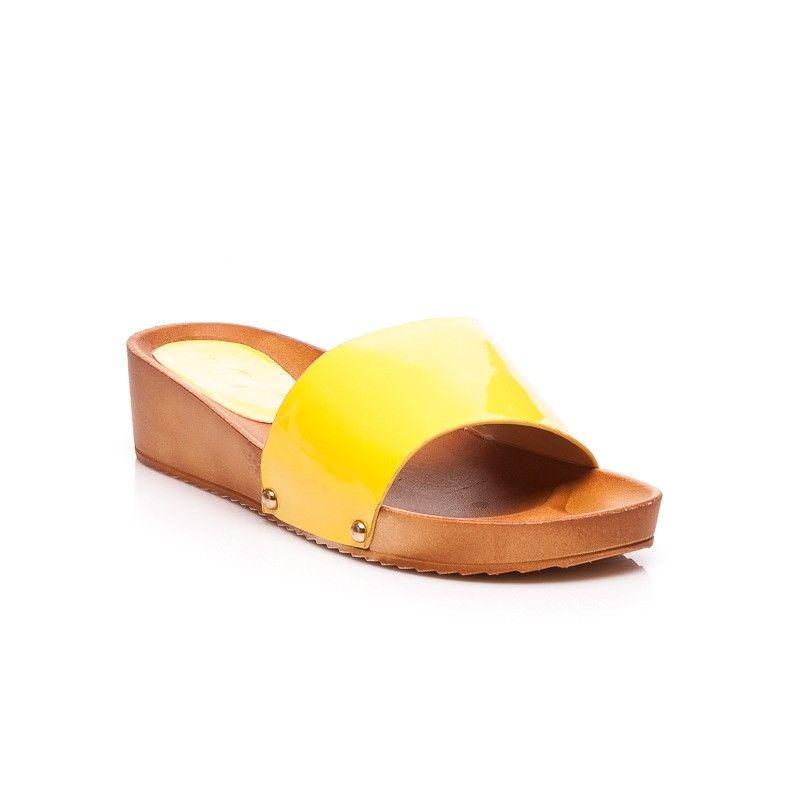 02fd8b36f5a6 Žlté dámske šľapky 860-10Y