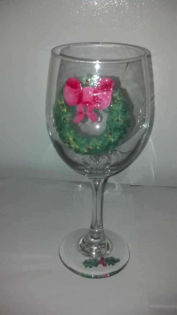 One of my handpainted glasses!