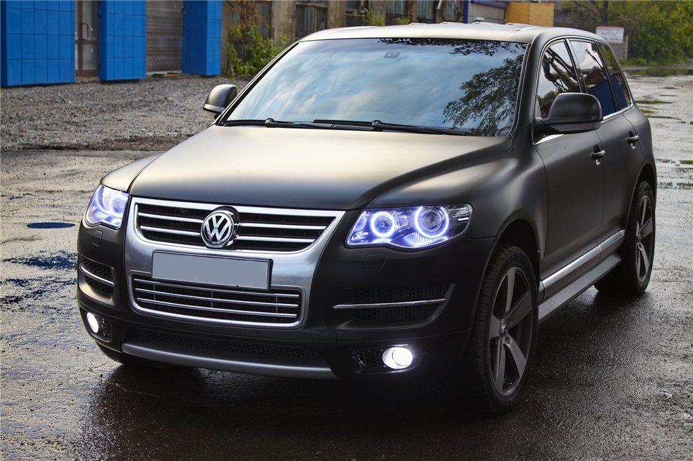 Matter Black Touareg Halo Led Headlights Volkswagen Touareg Volkswagen Touareg Vw