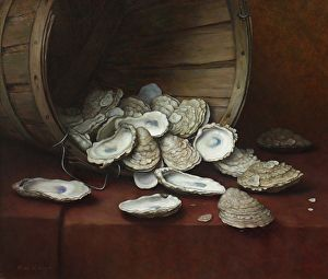 Oyster Basket by artist Russell Gordon. #artwork found on the FASO Daily Art Show - http://dailyartshow.faso.com
