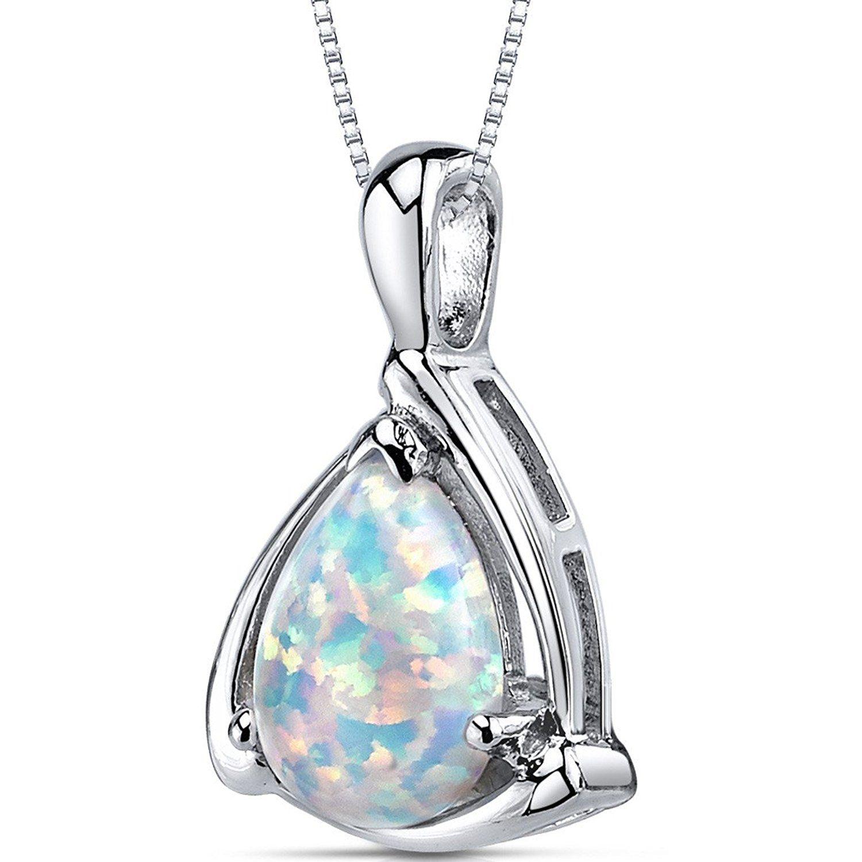 Revoni Garnet Pendant Necklace Sterling Silver 1.50 Carats IpOK51y