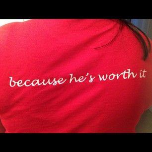 usmc wife shirt because he's worth it