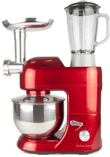 Andrew james multifunctional red 52 food mixer with meat grinder andrew james 1300 watt multifunctional red food mixer with 2 year warranty meat grinder and litre blender attachments recipe book forumfinder Images