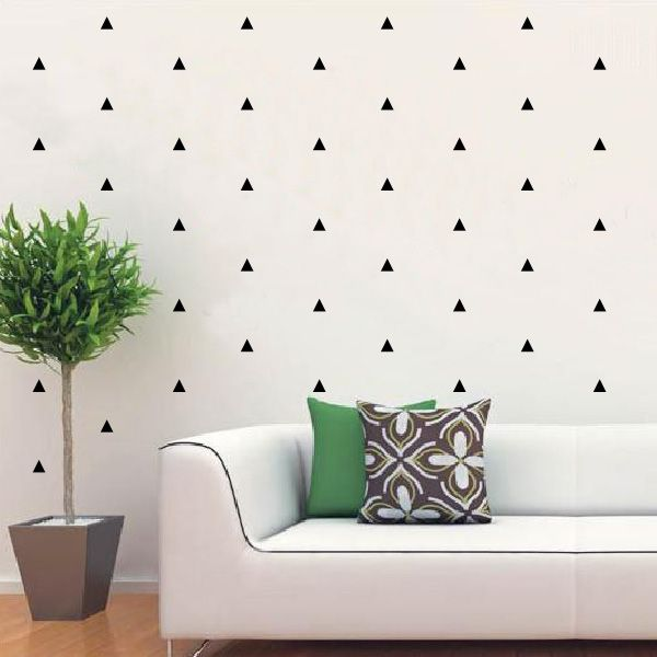 "Removable Wall Art mini triangle pattern - removable vinyl wall art decals""vivid"