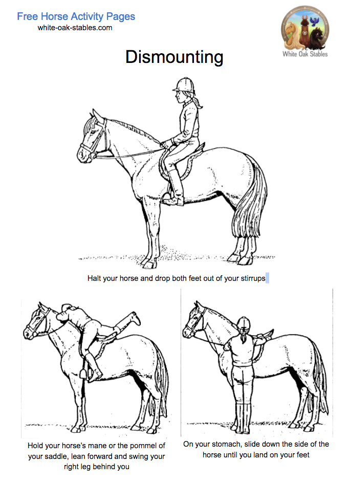 Dismounting Activity Page Coloring