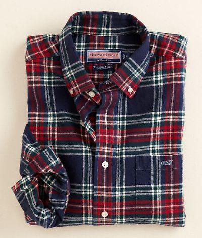 Vineyard Vines Randolph Plaid Flannel Tucker Shirt