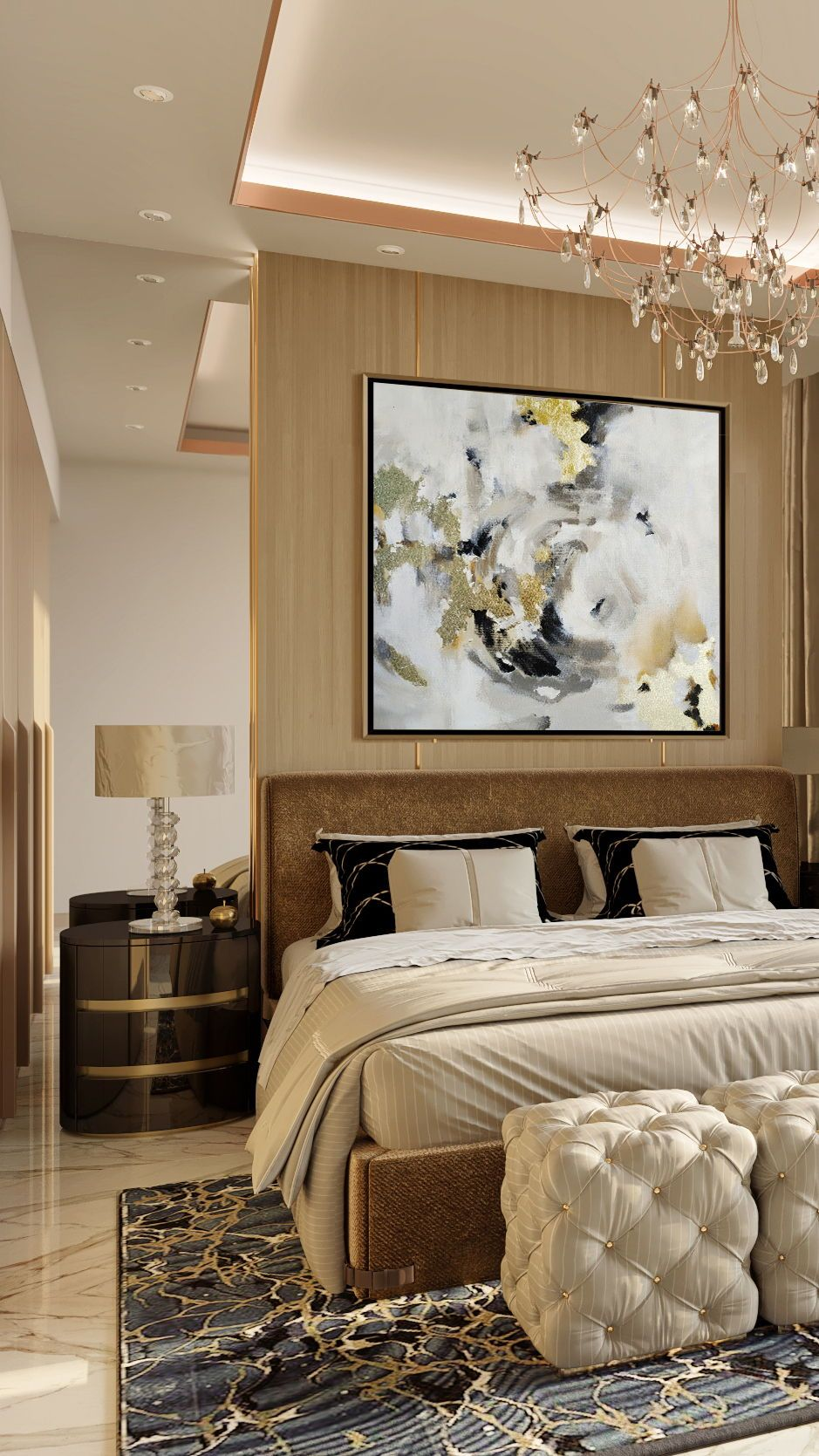 Creative Abstract Art Made Of Artistic Oil Paint For Bedroom Ideas Luxury House Interior Design Small Living Room Furniture Master Bedroom Interior Design