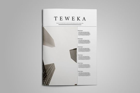 Teweka Magazine by teweka_magazine on @creativemarket