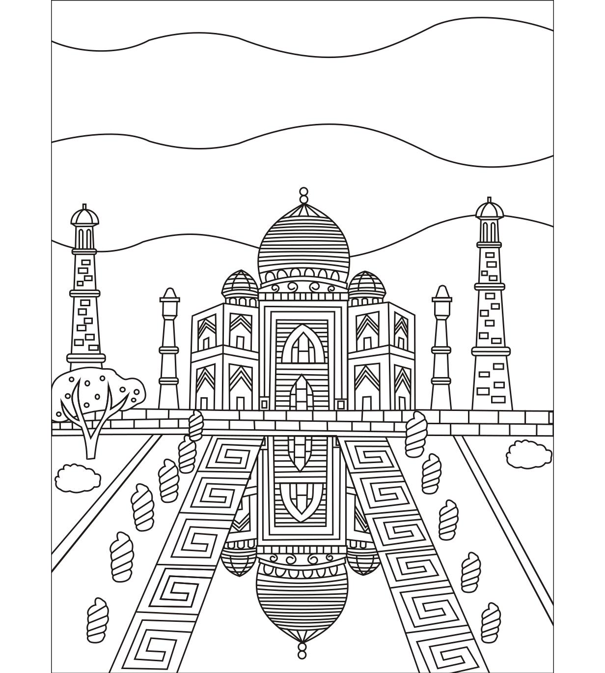 Taj Mahal #coloringpage | Colorish: coloring book for adults by ...