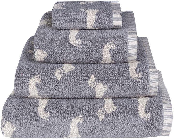 Emily Bond Grey Dachshund Jacquard Towel Hand Towel