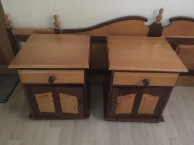 Solid Yellow Wood And Imbuia Bedroom Set Dutch Furniture
